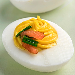 salmon deviled eggs